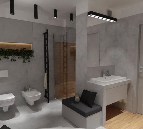 projekt Łazienki Tychy wizualizacje łazienki Tychy projektowanie wnętrz Tychy