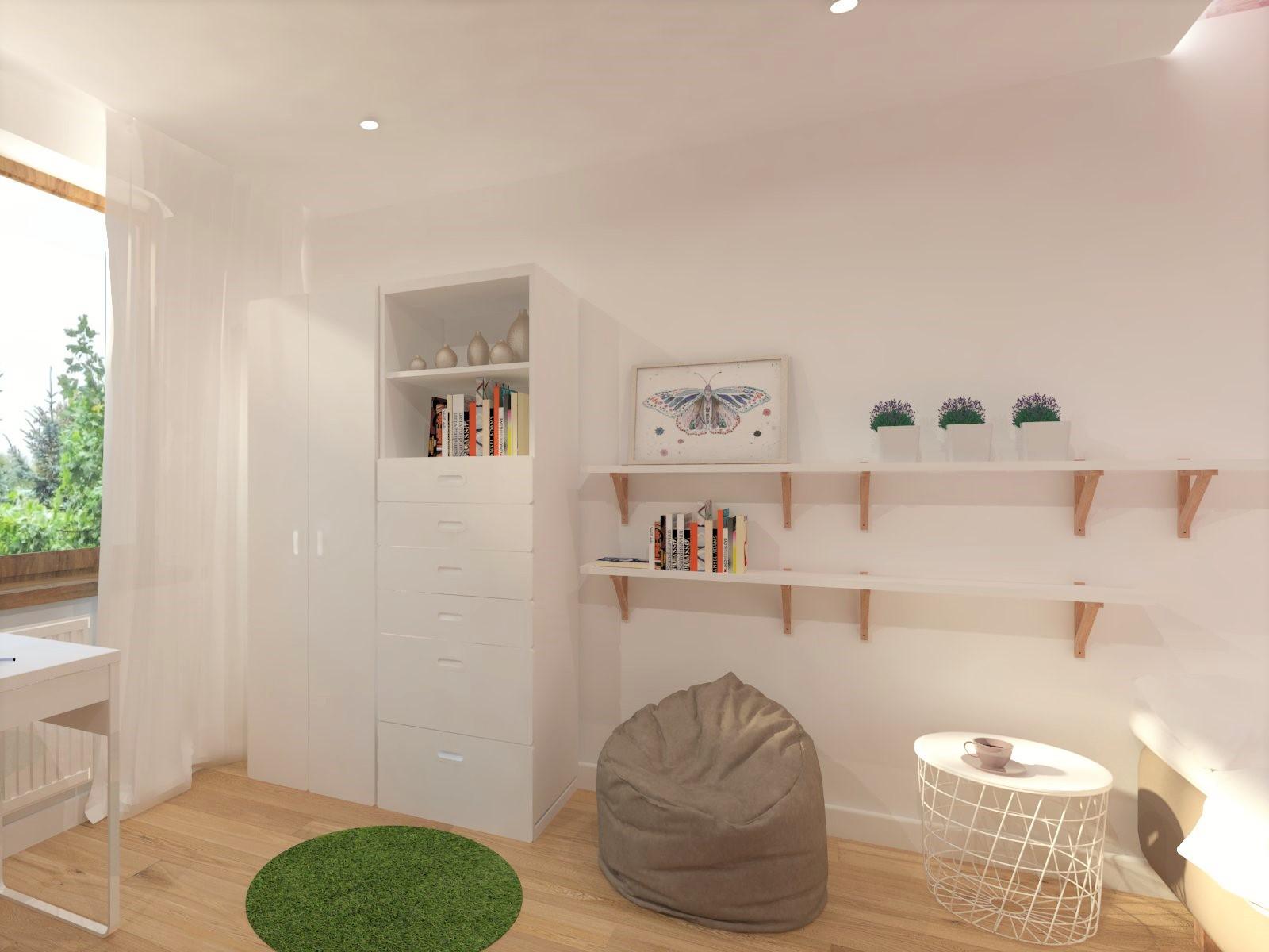 pokój dziecięcy Tychy, projektowanie wnętrz Tychy, różowy pokój dla dziewczynki Tychy, projekt pokoju dziecięcego Tychy