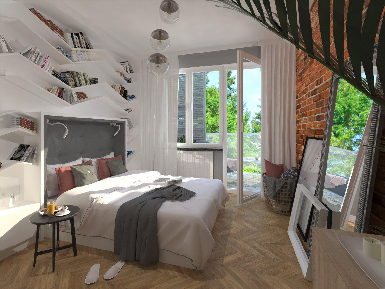 projekt sypialni Tychy, projektowanie wnętrz Tychy, architekt wnętrz Tychy